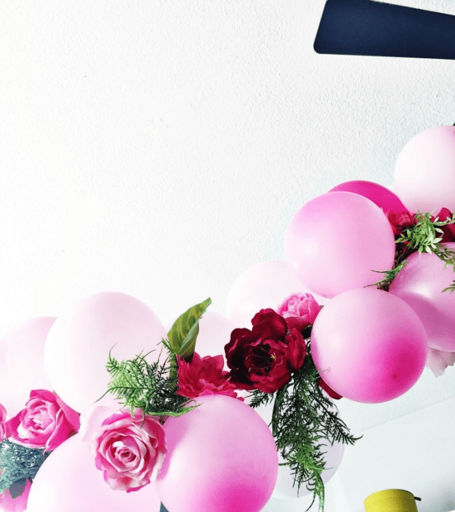 DIY Balloon Flower Garland For Parties
