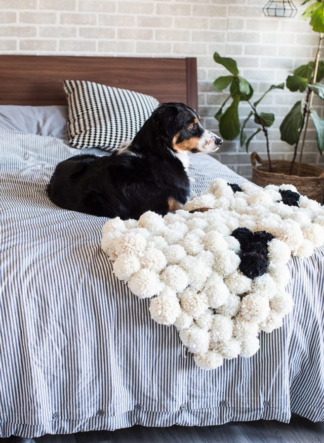 Picture Of diy chic pompom rugs to feel cozy in the winter  10