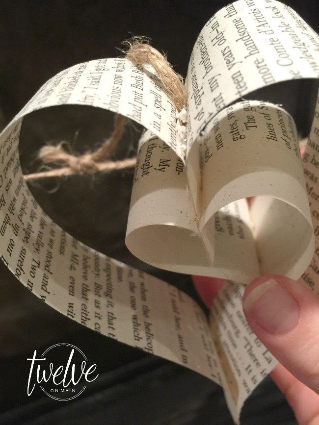 DIY Heart Garland From Old Book Pages