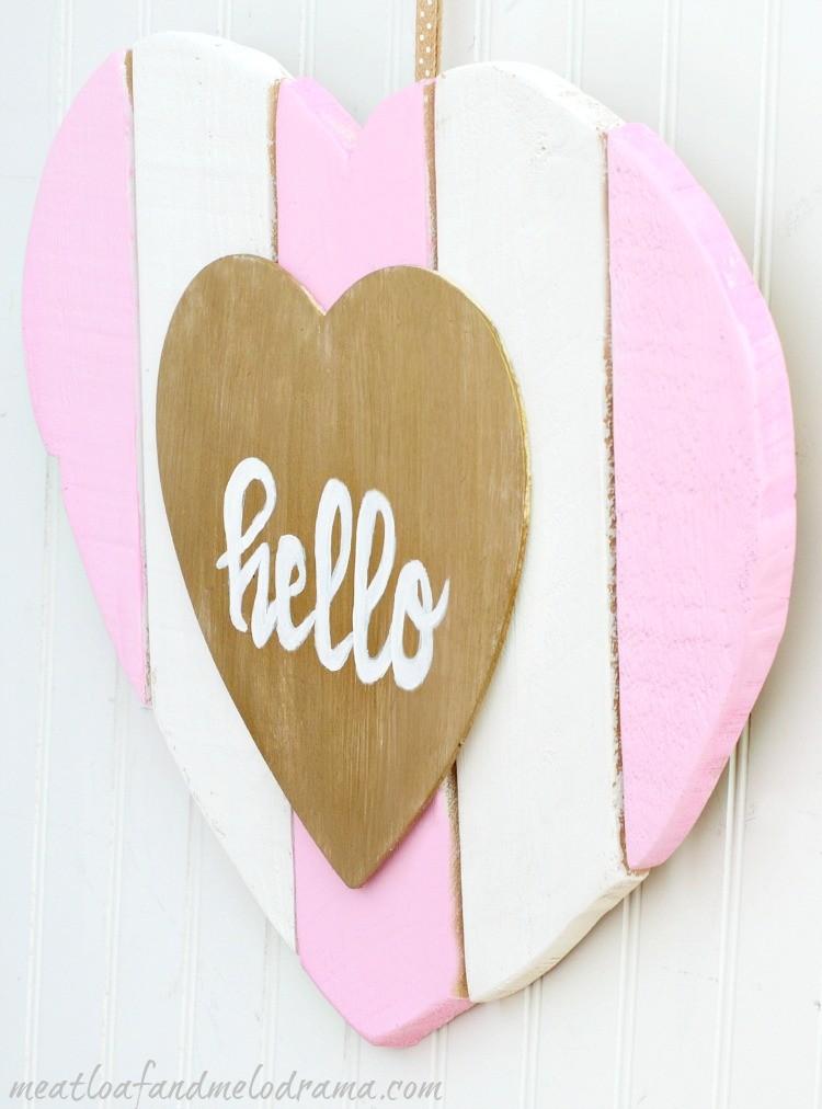 DIY Heart Shaped Valentine Door Hanger