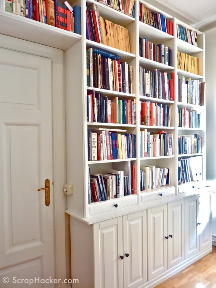 DIY Billy bookcase hack (via scraphacker)
