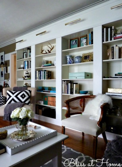 Diy Ikea Hacks For Home Library Reading Nook Shelterness