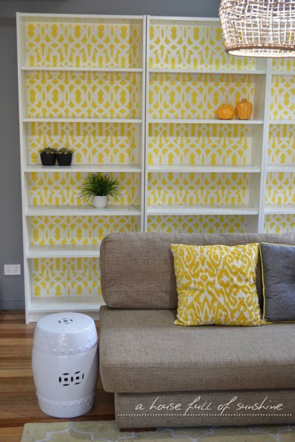 DIY IKEA Billy hack (via ahousefullofsunshine)