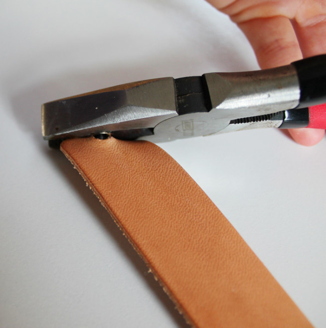 DIY Leather Pulls To Accentuate Your Furniture