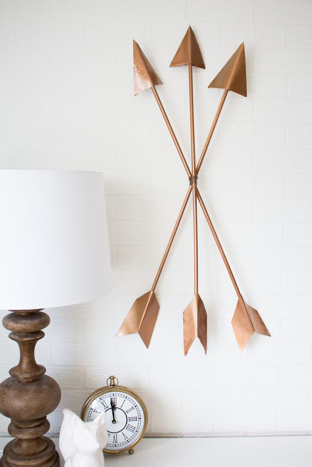 DIY Modern Arrow Wall Art For Valentine's Day