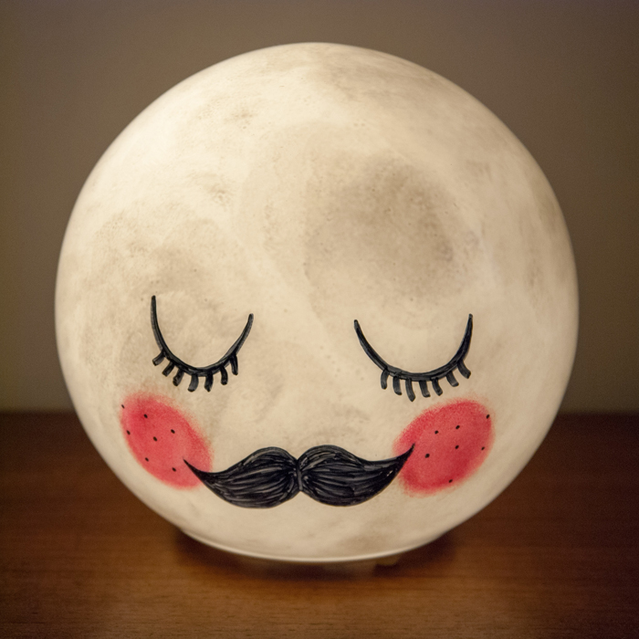 Fun Diy Mr Moon Night Light For Kids Rooms Shelterness