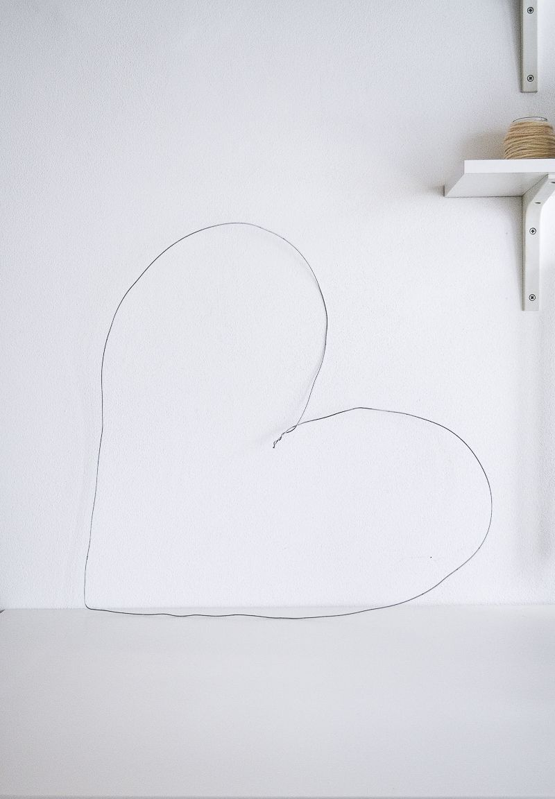 Picture Of diy string heart wall art for valentines day  3