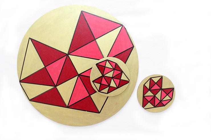 geometric heart dinner set (via thecraftables)