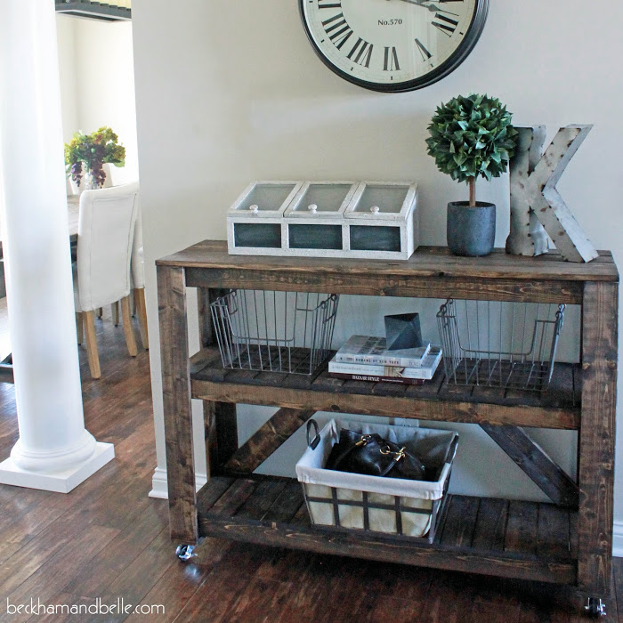 DIY Wooden Console Entryway Table