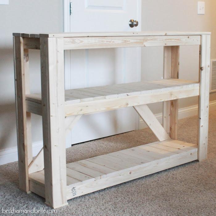 DIY Wooden Console Entryway Table