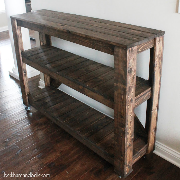 Picture Of Diy Wooden Console Entryway Table 12