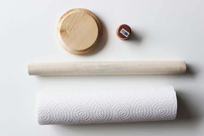 Diy Wooden Dowel Paper Towel Holder Shelterness