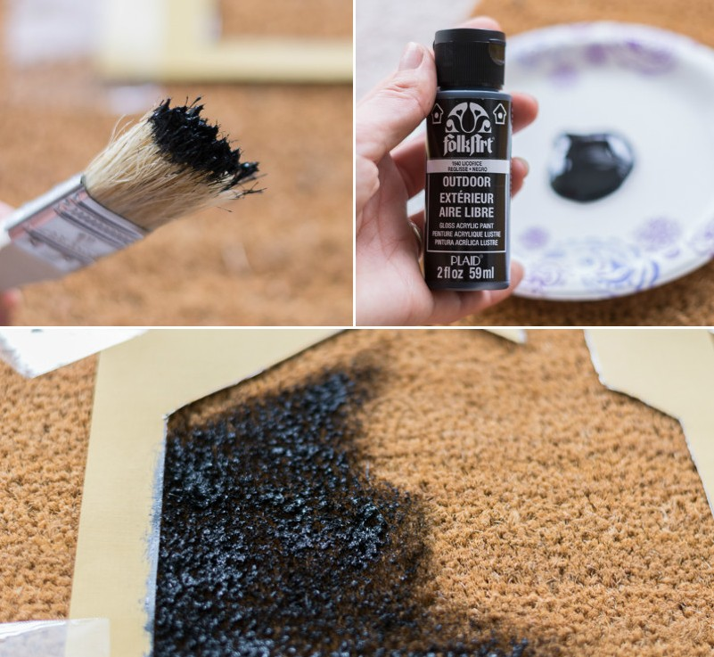 Picture Of easy and affordable diy custom painted doormat  4