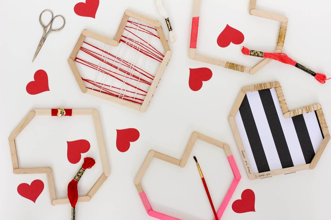 Picture Of easy andfun diy posicle sticks valentines  1