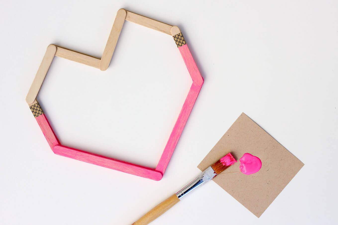 Picture Of easy andfun diy posicle sticks valentines  2