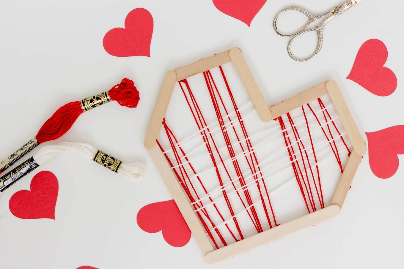 Picture Of easy andfun diy posicle sticks valentines  3