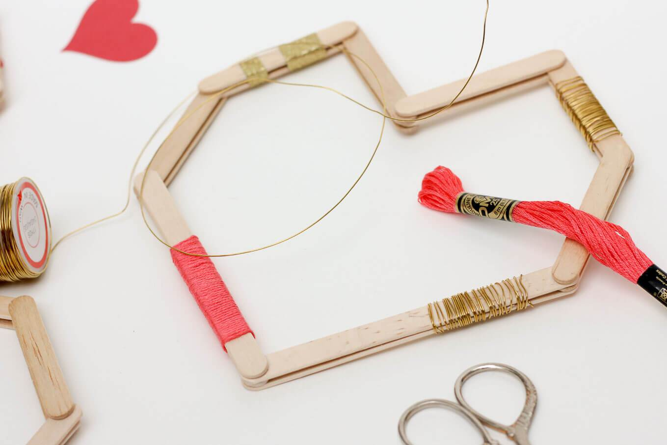Picture Of easy andfun diy posicle sticks valentines  4