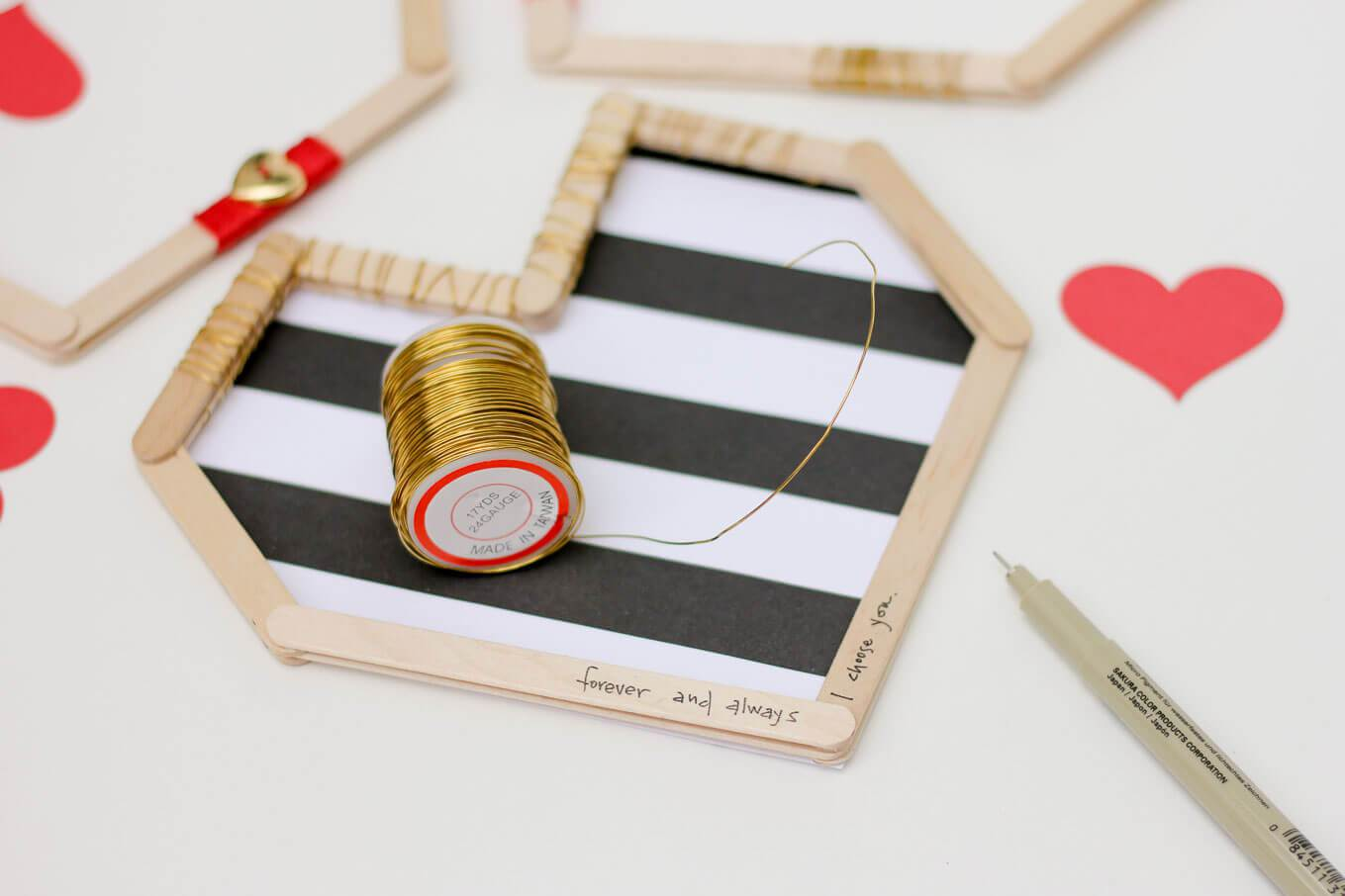 Picture Of easy andfun diy posicle sticks valentines  5