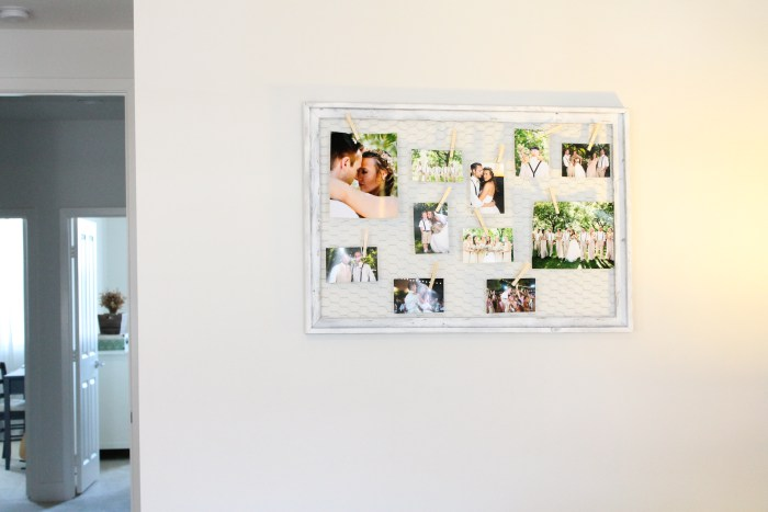 Picture Of easy diy chicken wire photo display  4
