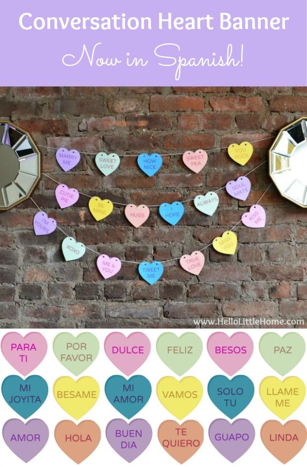 conversation heart banner (via hellolittlehome)