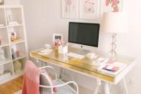DIY gold leaf desk