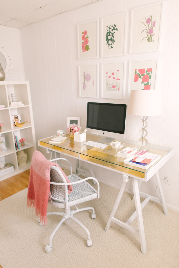 DIY gold leaf desk (via stylemepretty)