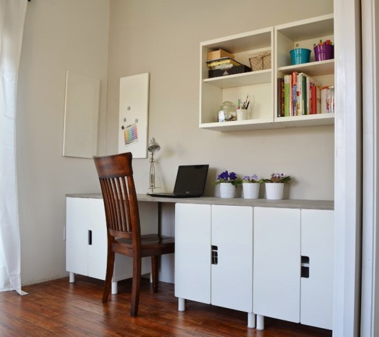 DIY Stuva Desk Hack (via Ikeahackers)
