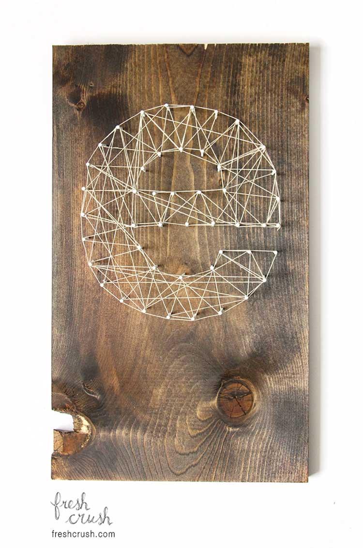 Eye-Catching DIY Initial String Wall Art