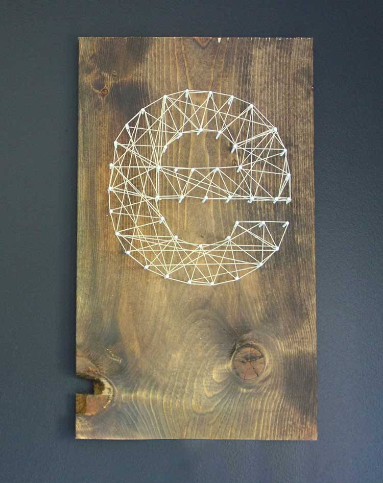 Picture Of eye catching diy initial string wall art  5