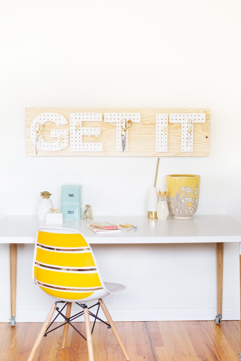Picture Of functional and creative diy pegboard words  1