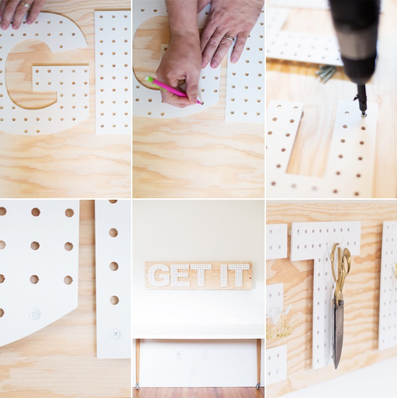 Picture Of functional and creative diy pegboard words  4