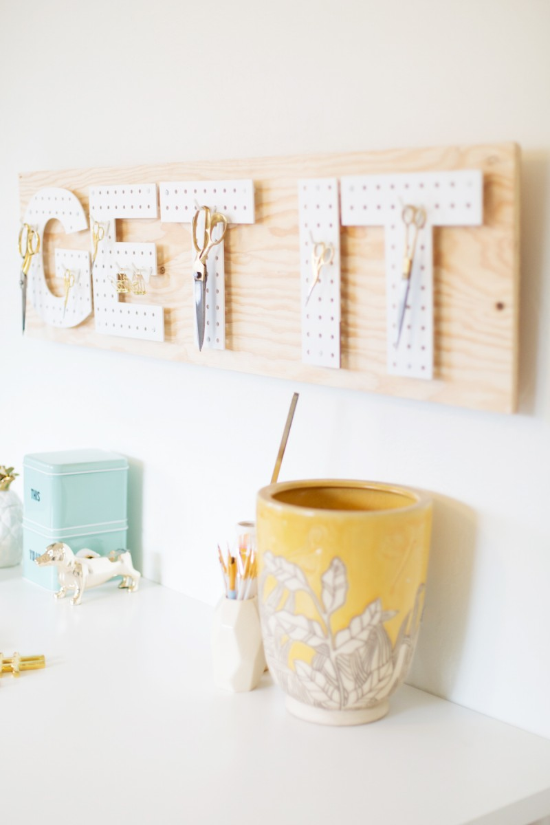 Picture Of functional and creative diy pegboard words  6