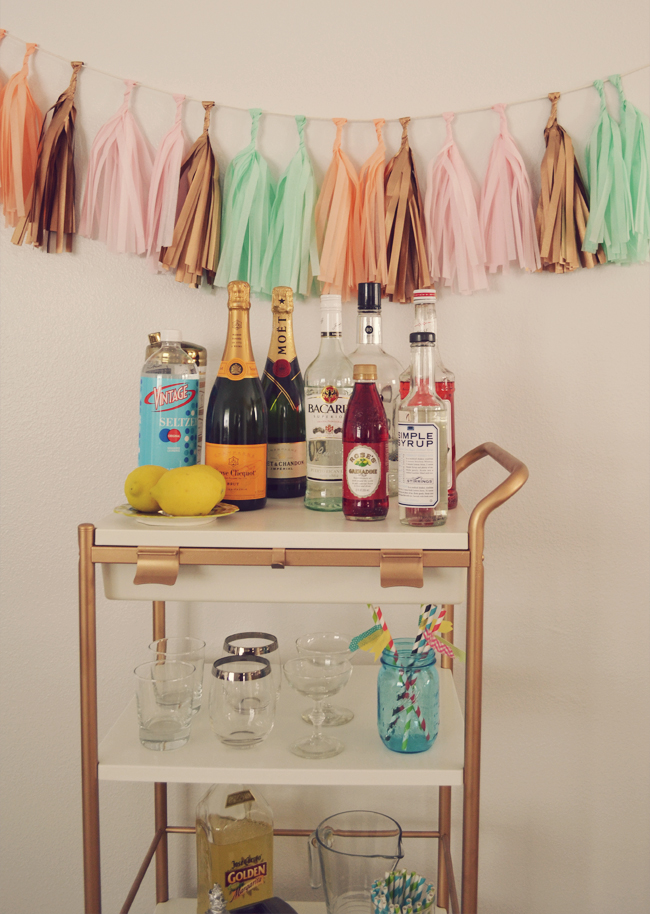 DIY Bygel utility cart hack (via blushandjelly)