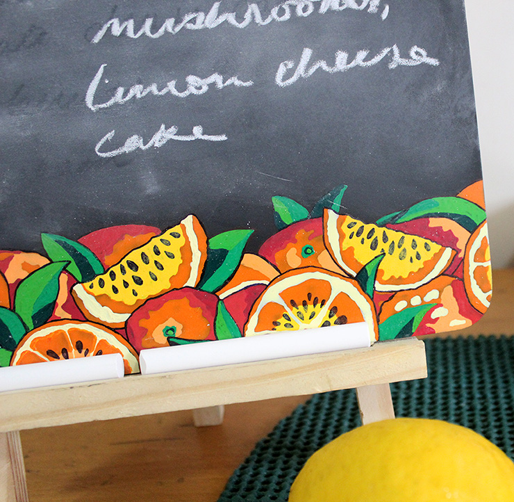 How To Make A Decorative Kitchen Chalkboard