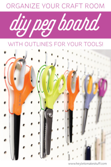 DIY craft room pegboard (via heyletsmakestuff)