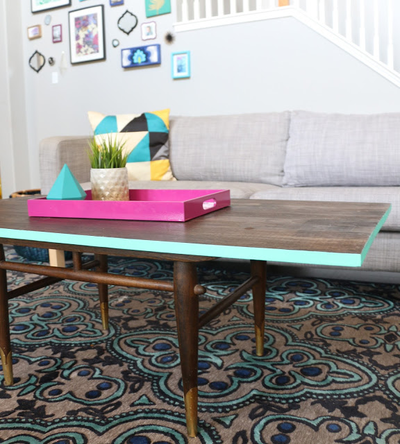 stylish and chic diy revamped coffee table - shelterness