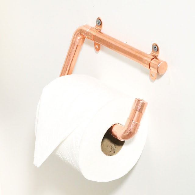 Stylish DIY Copper Toilet Paper Holders