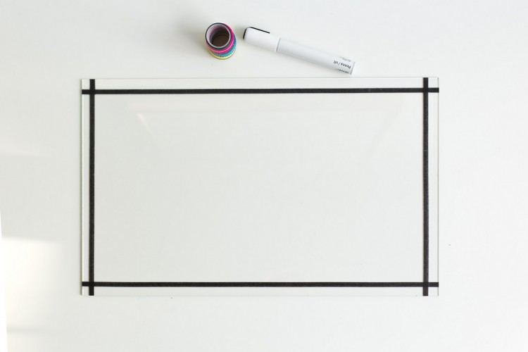 unusual diy clear glass memo board shelterness. Black Bedroom Furniture Sets. Home Design Ideas