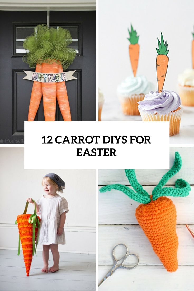 12 Fun DIY Carrot Crafts For Easter Décor