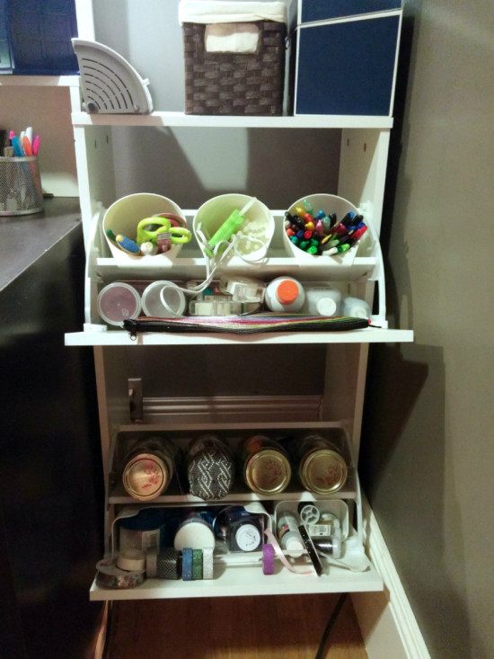 DIY craft cabinet