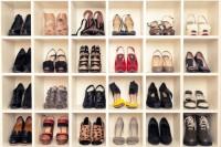 DIY shoe display wall