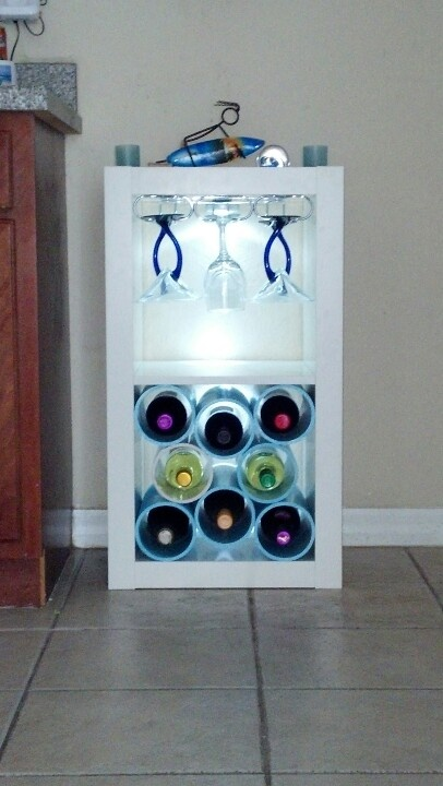 DIY Expedit wine rack (via ikeahackers)