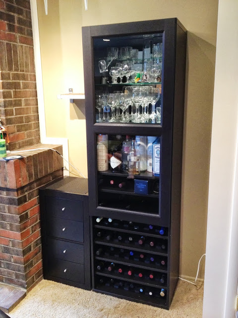 DIY Besta wine rack and liquor cabinet (via ikeahackers)