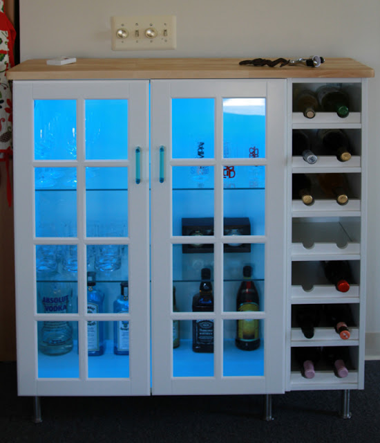 DIY Akurum and Perfekt bat cabinet (via ikeahackers)