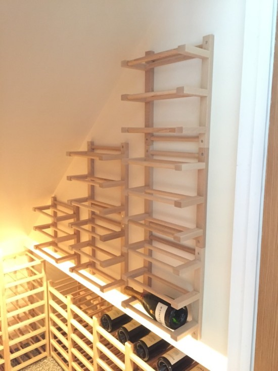 DIY Hutten wine racks (via ikeahackers)