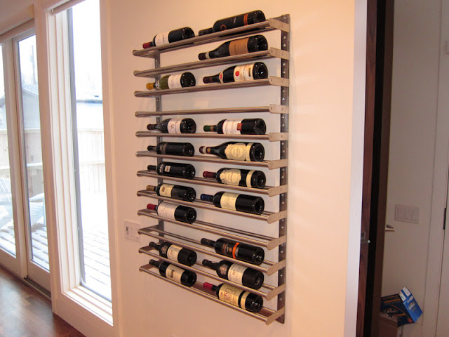 DIY Grundtal wine rack (via ikeahackers)