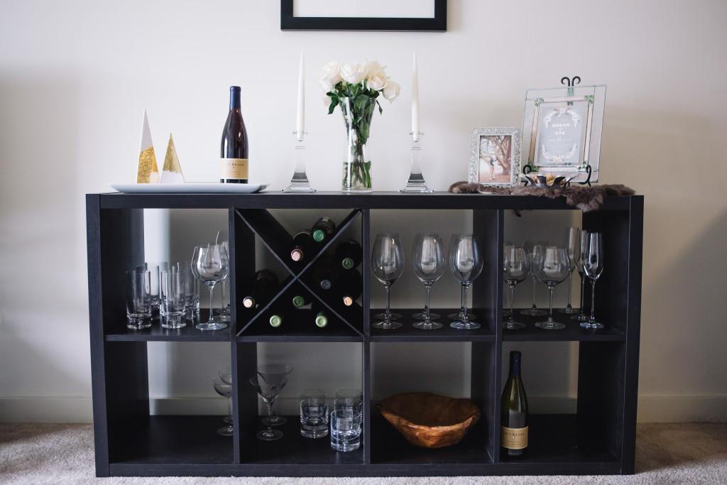 DIY Kallax wine rack