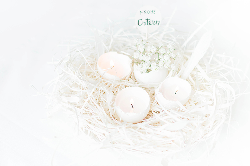 Picture Of beautiful diy eggshell candles for easter  1