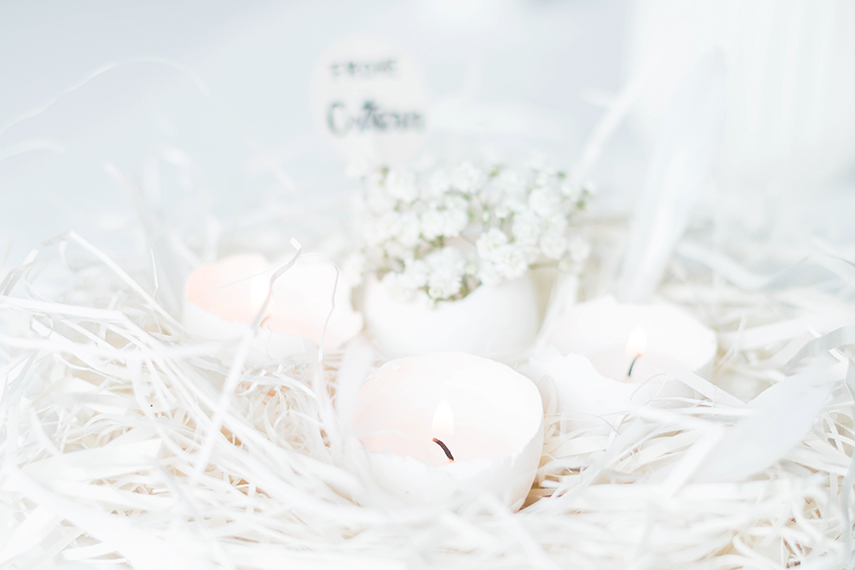 Picture Of beautiful diy eggshell candles for easter  5