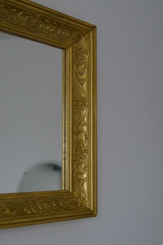 DIY baroque Ram mirror (via ikeahackers)